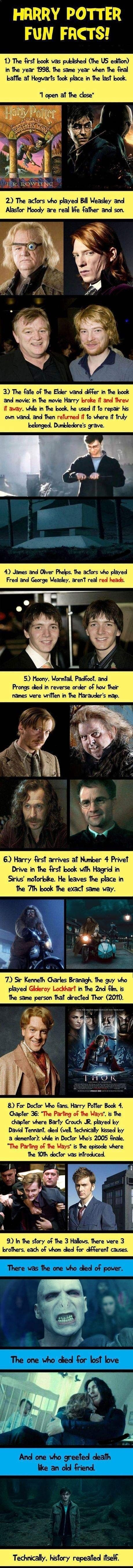 Harry Potter facts… - One Stop Humor: Funny Pictures and Videos! This is so interesting!