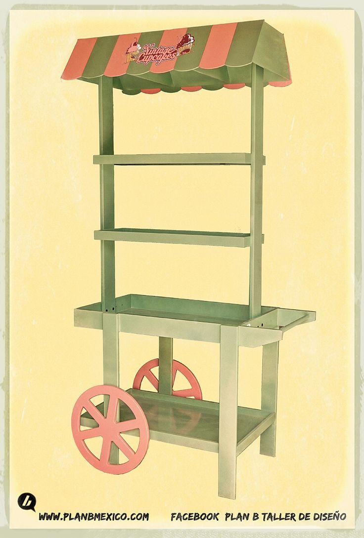 Carretas vintages retro para dulces candy bar cupcakes - Venta de muebles vintage ...