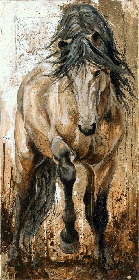 passionate horse painting by Elyse Genest • www.elisegenest.com                                                                                                                                                                                 More