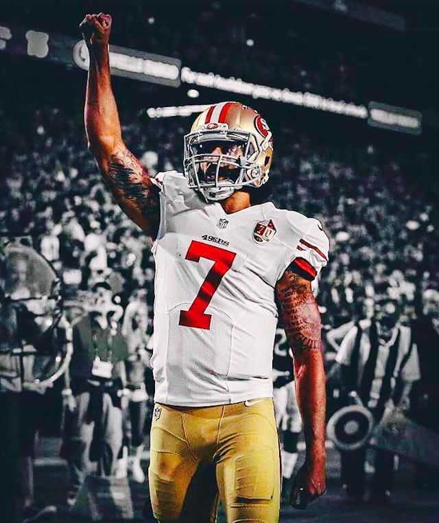 Why is it that when any black athlete,actor,or musician speaks about the social injustice of black people..the become the enemy of America? No matter how they were viewed before they gave their opinion, that tends to be the outcome. Beyoncé and Colin Kaepernick are two great examples of this. It's like people think that if you don't talk about it..it doesn't exist.  #Blackmen #ColinKaepernick #blacklove #blackhistory