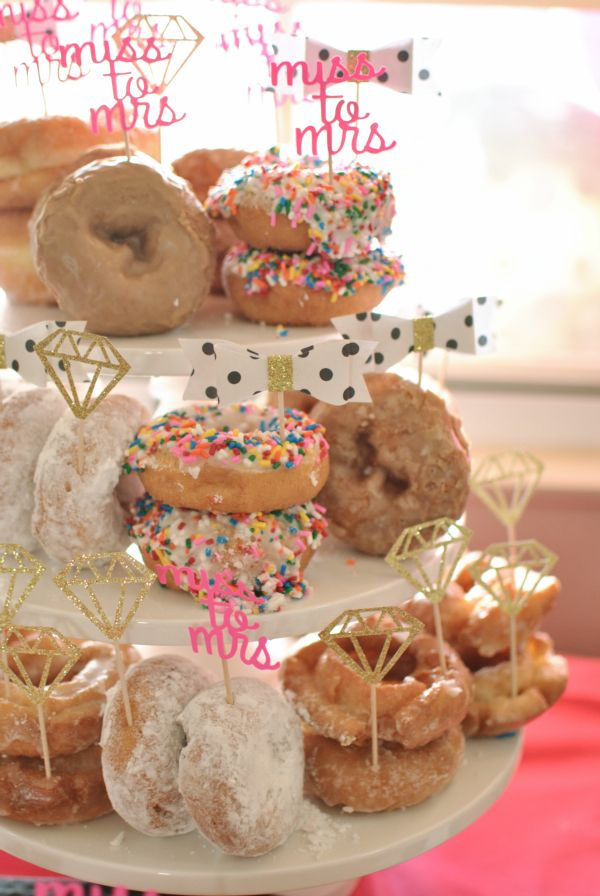 Bridal Shower Roundup from The Daily Hostess Donuts and Diamonds Themed Bridal Shower