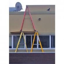 Everything about this makes us sick... #ladderfail #laddersafety