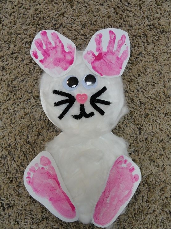 Hand Footprint Bunny For Easter Katie Heidelberg This Would Be So