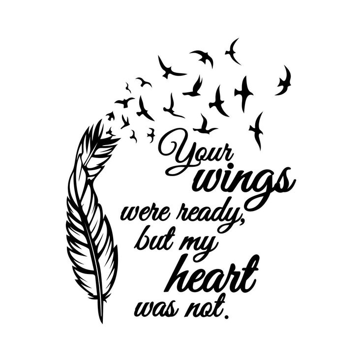 26 best images about phrase quote sign on pinterest for Your wings were ready but my heart was not tattoo