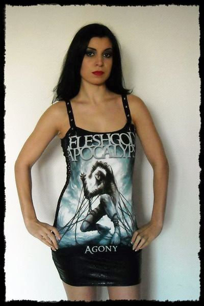 Fleshgod Apocalypse Metal Tunic Strap Top Tank by kittyvampdesigns, €35.00