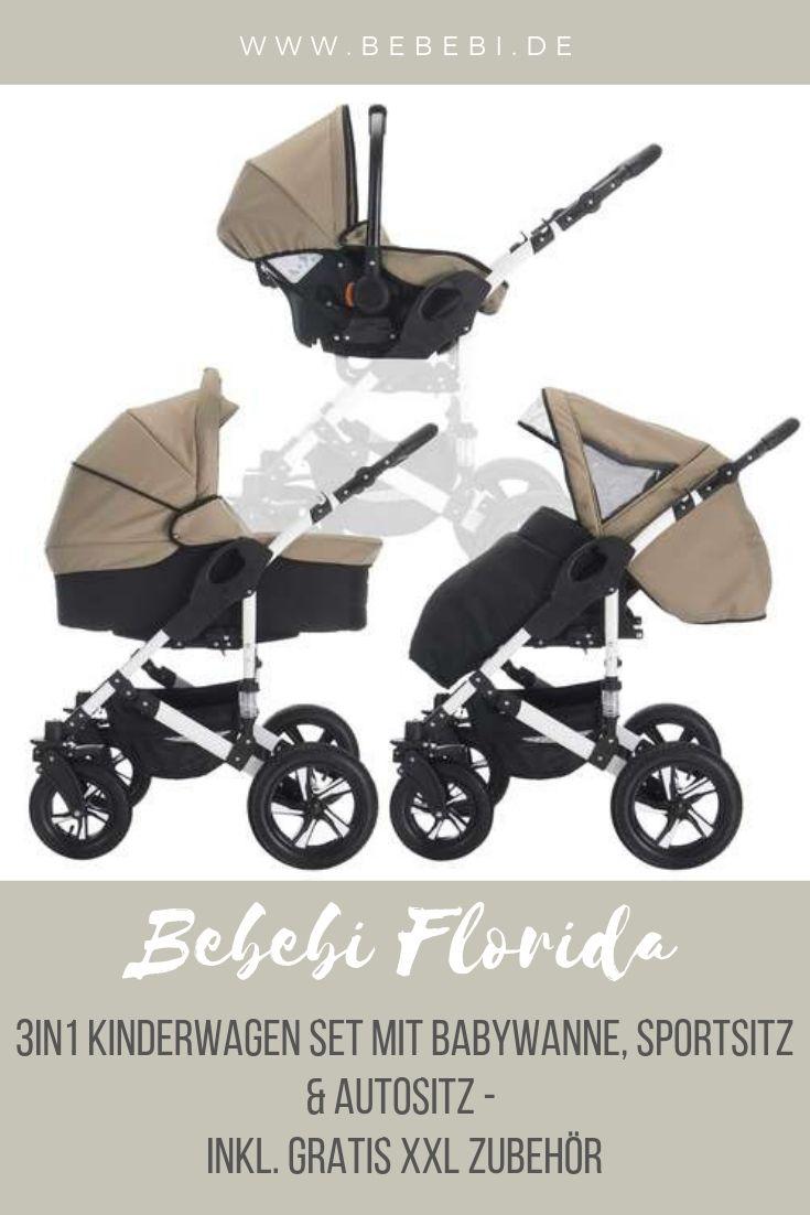 Bebebi Florida 3 In 1 Kombi Kinderwagen Komplettset Luftreifen F 348 00 Kinderwagen Kinder Wagen Kinderwagen Set