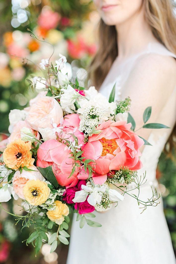 Colorful Summer San Diego Botanic Garden Wedding Wedding Flower