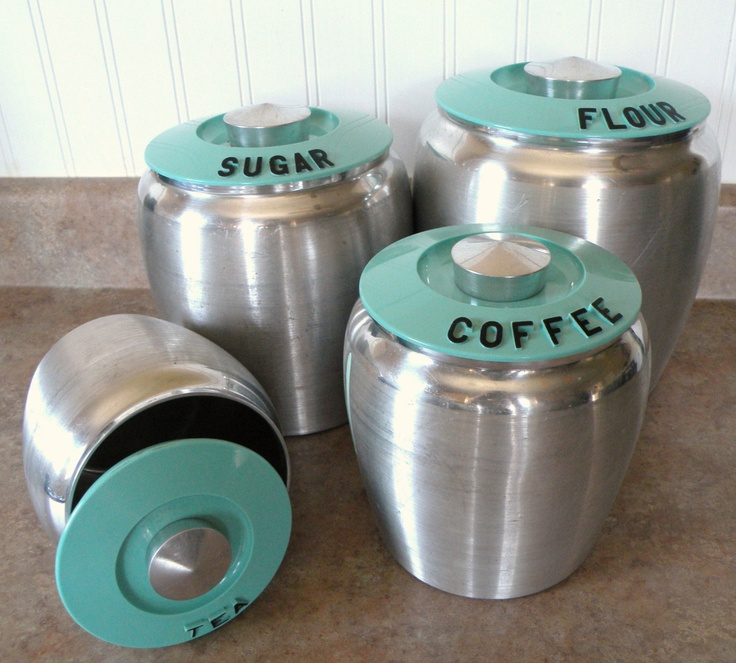 oh la la turquoise kitchen canisters for the home