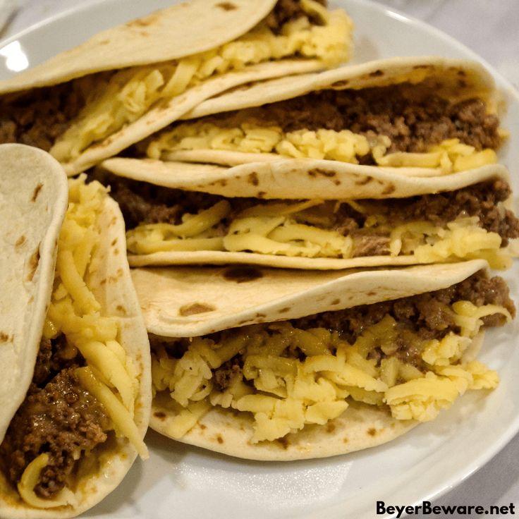 Air fryer mini beef tacos in the ninja foodi beyer