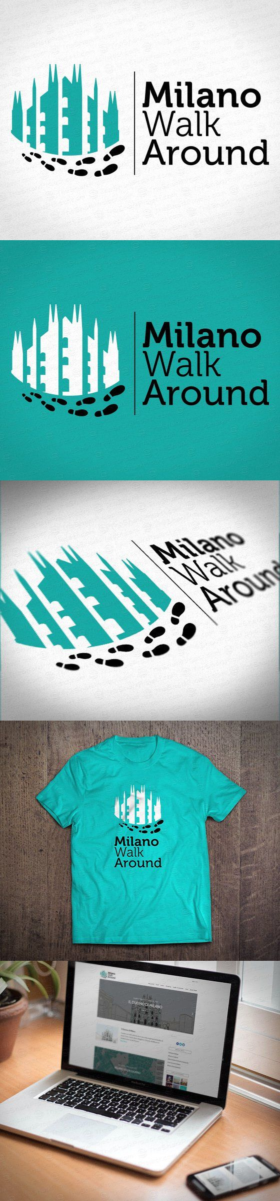Milano Walk Around #logo by thesharkproject.com #corporateidentity #milano #mka #milan #expo2015 #travel #touring #walking