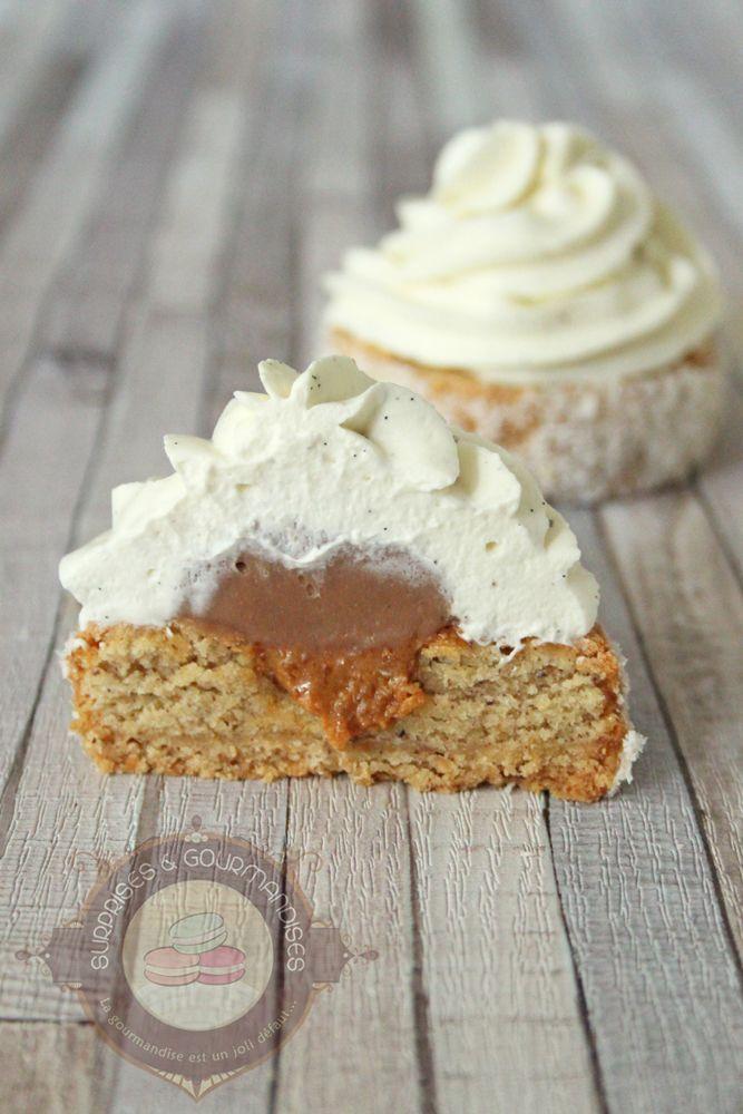 Petit gâteau noisette, gianduja et vanille – Surprises et gourmandises