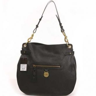 Mulberry Somerset Pebbled Leather Shoulder Bag Black:£147.9 - Mulberry Bag Outlet Store Review