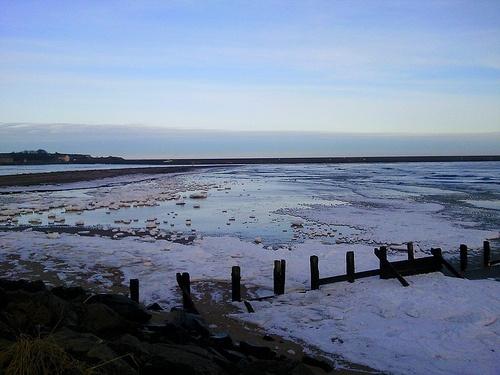 Frozen Spittal Beach in Berwick upon Tweed, UK.Best Beach, Spittal Beach, Beach Europe