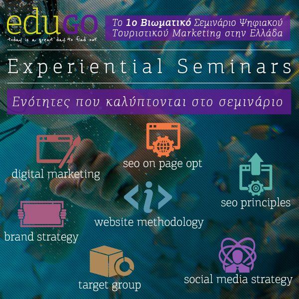 Για περισσότερες πληροφορίες σχετικά με το Digital Tourism Experiential Seminar, κατεβάστε το αναλυτικό πρόγραμμα, http://bit.ly/edtmprg