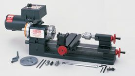 Another great tool supplier. Sherline makes some terrific lathes and mills (the latter of which is currently on our wish list).  For a good overview of the Sherline lathe, as well as their competitors, see Ted Roubal's review of Small Lathes for Miniaturists, published in TSC 13:1 (available as a downloadable pdf from dpllconline.com).