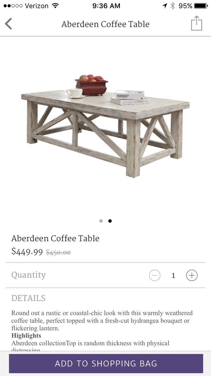 117 best coffee tables images on pinterest furniture wood and aberdeen coffee table geotapseo Images