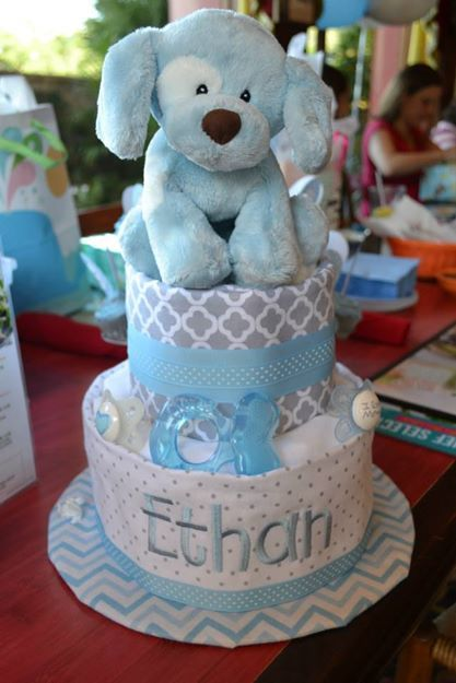 Ethan's diaper cake