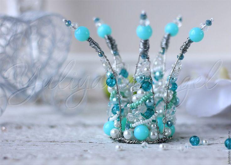 Купить Мятная корона для девочки. Детская диадема. Детская бижутерия - бледно-розовый, сиреневый