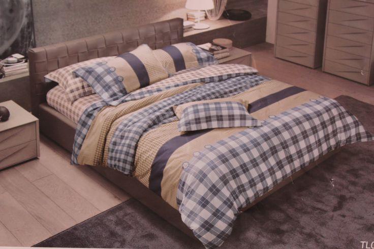 Ткань для постельного белья, клетка, серая/желтая/белая гамма, мелкая клетка компаньон Арт.:1446727534-6786 – Textile Plaza