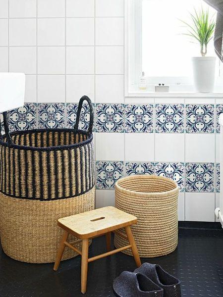 Fliesenaufkleber - Aufkleber Fliesen, Zierpflanze, marokkanische - ein Designerstück von coloray bei DaWanda