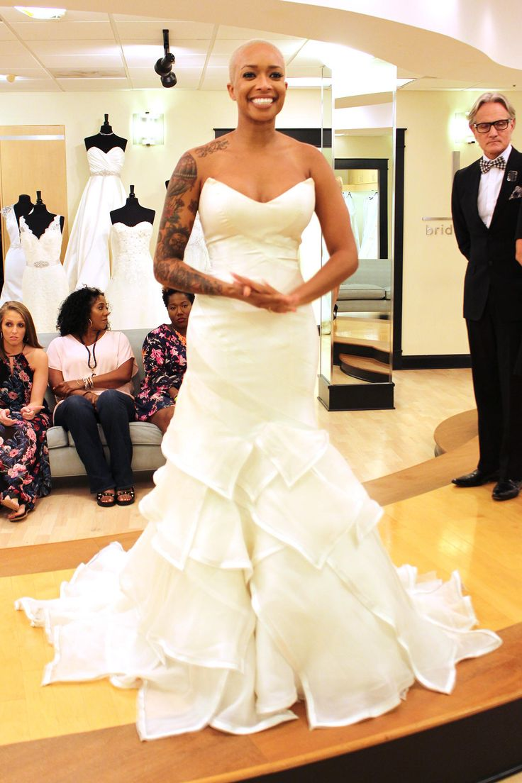 "Season 9 Featured Dress: Matthew Chrisopher. Trumpet Style. Off white. Silk Mikado. $4,548.00 #0126494-165 (Matthew Christopher Style: ""Tiger Lily"")"