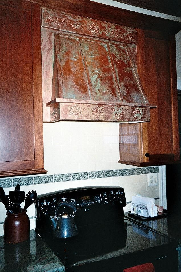 Copper Kitchen Hoods Hood From A Plain Wood Frame To An Aged