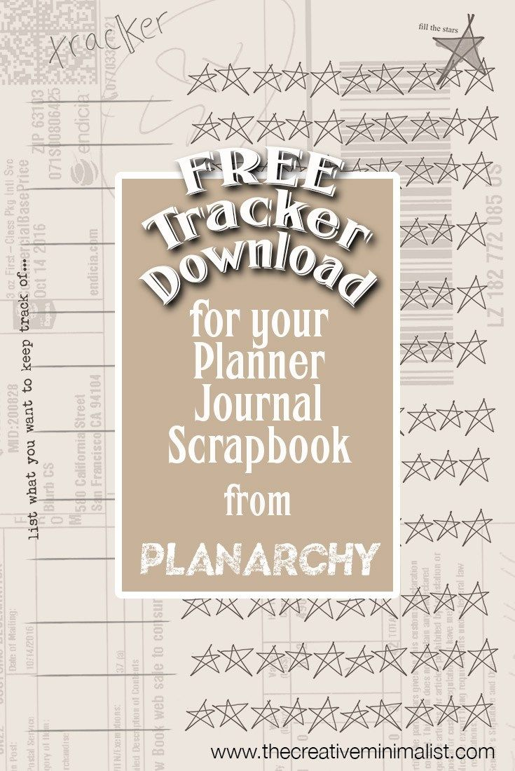 Free Tracker download for your planner, journal or scrapbook — the creative minimalist