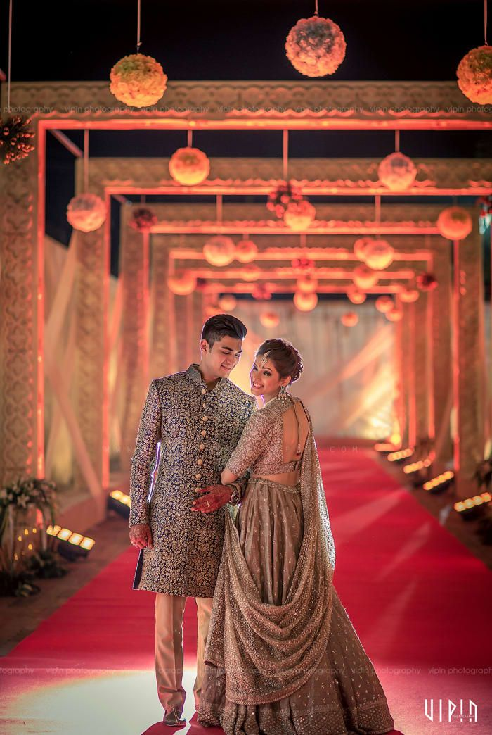 Photographer - The Perfect Soulmates! Photos, Hindu Culture, Beige Color, Bridal Makeup, Sangeet Makeup, Designer Groom Wear pictures, images, vendor credits - Bianca, WeddingPlz