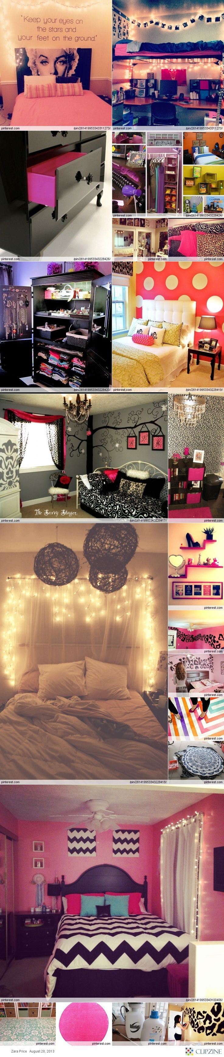 girls room ideas... a lot of these are a little over the top, but there are a few cute ideas