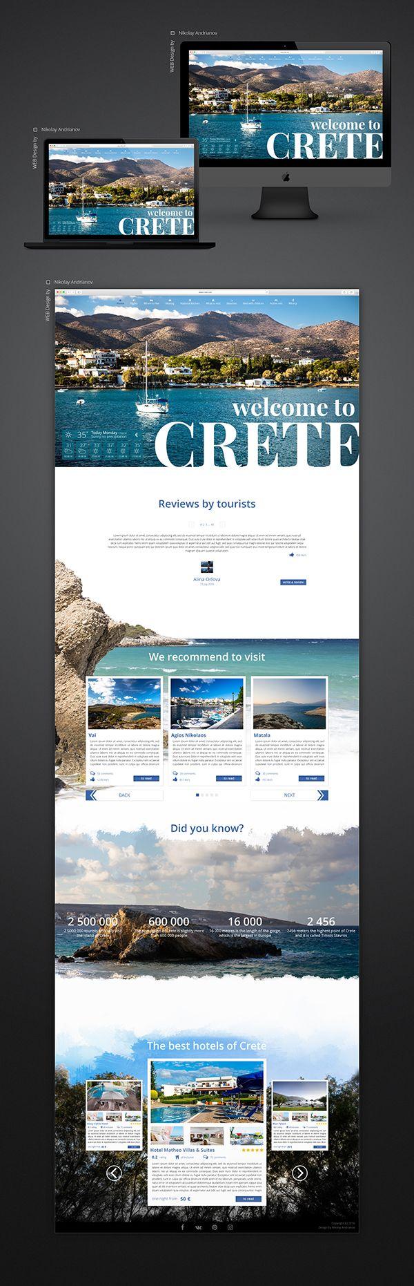 Страница сайта для веб путеводителя. Все фотографии уникальные, кроме снимков отелей, они взяты с сайта booking.com