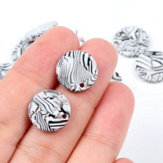 Tortoise Shell Stud Earrings,Acetate Acrylic Earring Stud,Circle Shaped Earrings…