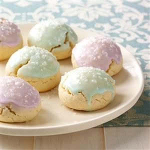 Tender Italian Sugar Cookies Recipe -These traditional Italian cookies are moist and tender. —Weda Mosellie, Phillipsburg, New Jersey