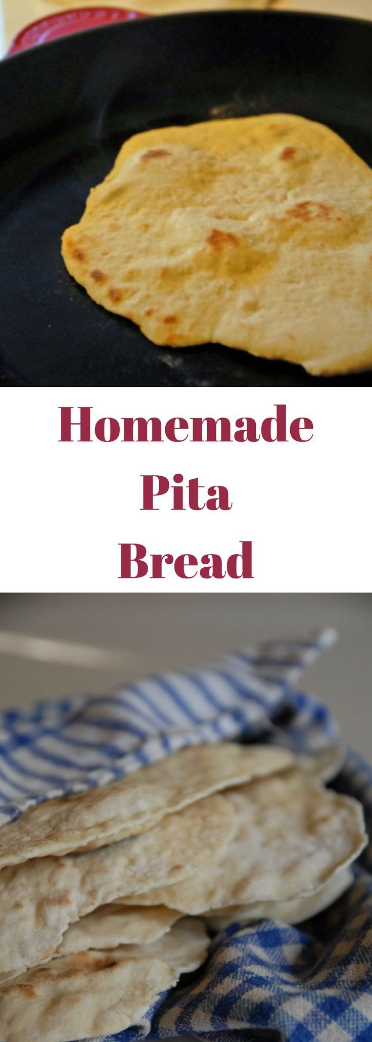 If you think you are going to love your pita bread as much as I did, go ahead and make a double batch.  Both of my batches were gone in a matter of a few days and I wish I had made more!