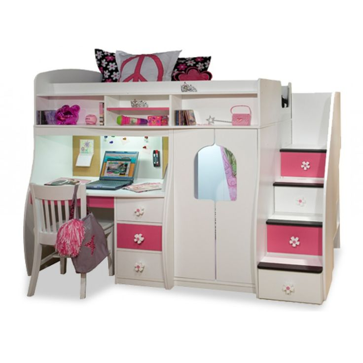 Best 25 bunk beds with stairs ideas on pinterest bunk beds with storage bunk bed king and - Pics of girls bedrooms working desk years and over ...