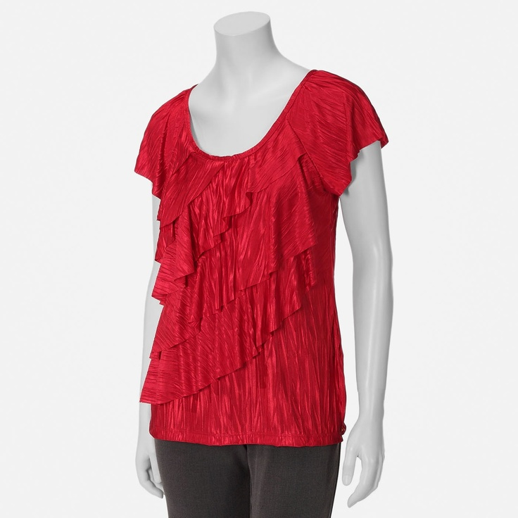 Brannan Womens Crinkle Tiered Top from Shopko. I have this shirt and it's purple.Tiered Tops, Crinkle Tiered, Brannan Women, Women Crinkle