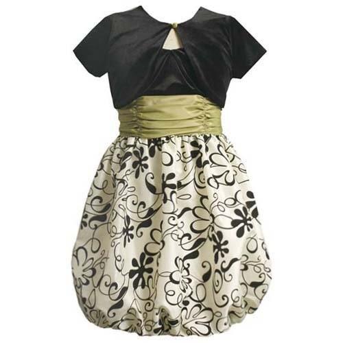 Bonnie Jean Tween Girls 7 16 Green Sequin Flower 171 Dress
