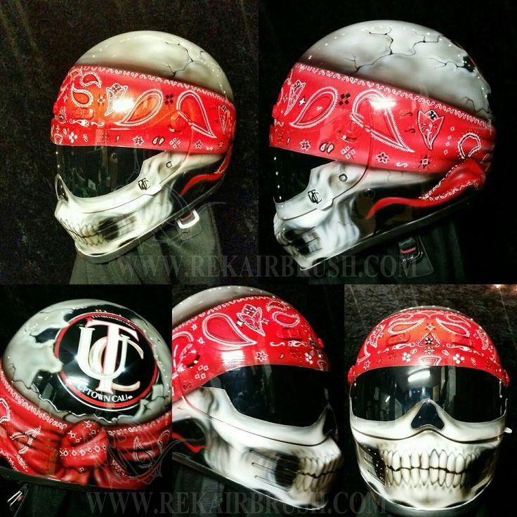 Best MOTORCYCLE HELMETS BY WWWREKAIRBRUSHCOM Images On - Custom motorcycle helmet stickers and decalssimpson motorcycle helmets