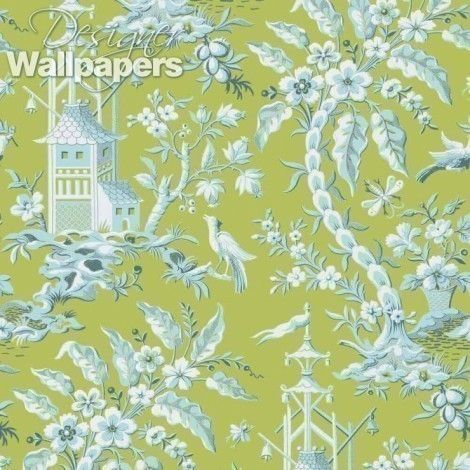 An exciting and exotic pattern of illustrated pagodas, flowering topical blooms with berry-eating birds and fluttering butterflies, Pagoda Garden is one of the 'busier' ranges in Thibaut's gorgeous new Imperial Garden collection. Representative of a picturesque Chinese outdoor scene, Pagoda Garden is a pattern like many in this collection, based on re-discovered ancient Far Eastern designs.