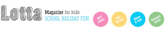 Awesome Australian kids craft online magazine. Released to align with school holidays