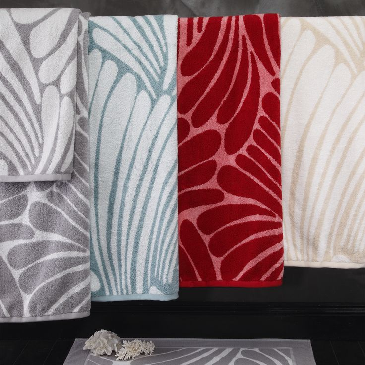 Fingers Towels colourway - Silver, Teal, Cherry & Parchment