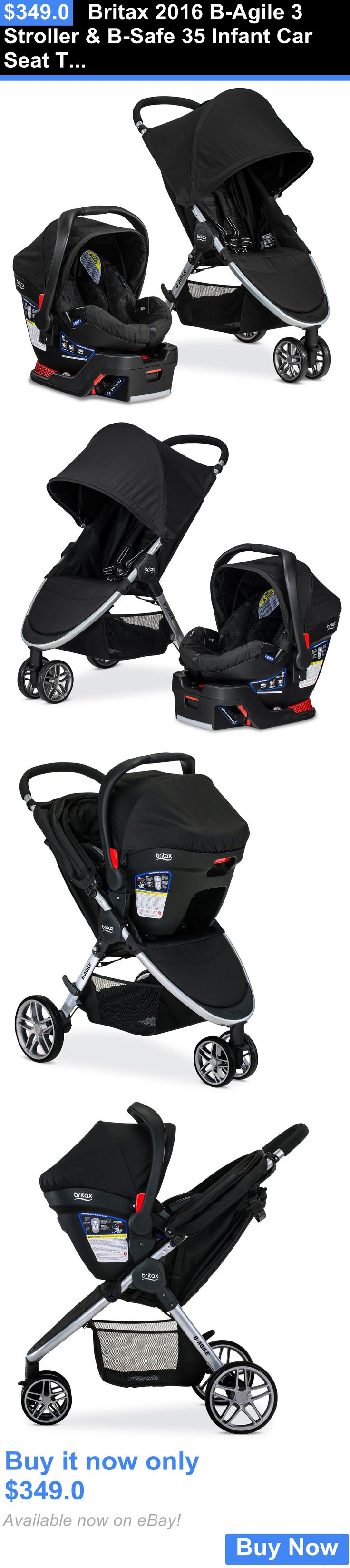 Baby: Britax 2016 B-Agile 3 Stroller And B-Safe 35 Infant Car Seat Travel System Black!! BUY IT NOW ONLY: $349.0