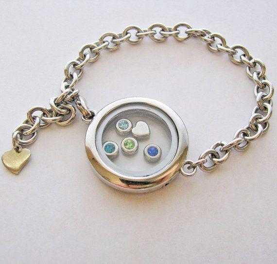 family birthstones locket bracelet  fill with your by juliethefish, $32.00 @Linda Gyetvay