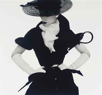 Irving Penn, Woman with Umbrella (Lisa Fonssagrives-Penn), New York, 1950
