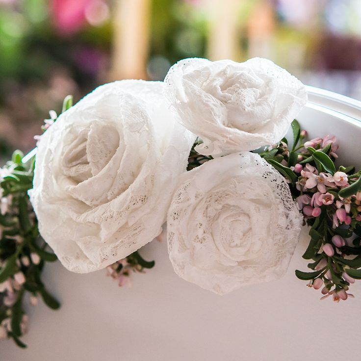 Fill your ceremony or reception with the grace and glamor of lace with these rolled fabric flowers. Mix and match with our Large Rolled Fabric Lace Floral Flowers, they're sure to fit any decorating n