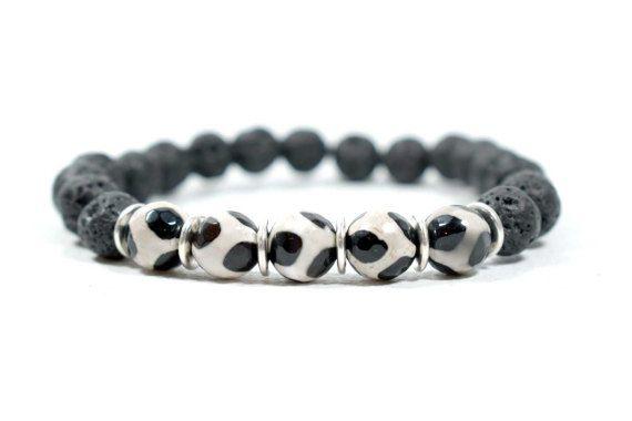 Men's Spiritual Healing Bracelet Tibetan by AlterDecoCoinsnBeads