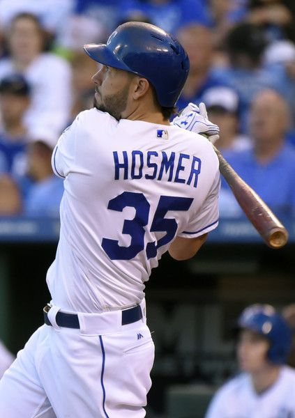 Eric Hosmer Photos Photos - Eric Hosmer #35 of the Kansas City Royals hits a…
