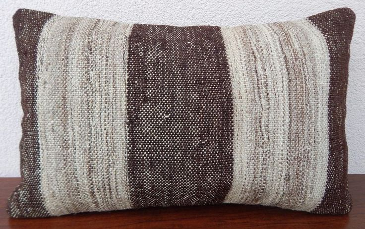 12x20 Country Decor French Farmhouse Grainsack Natural Wool Kilim Pillow Cover #Handmade #FrenchCountry