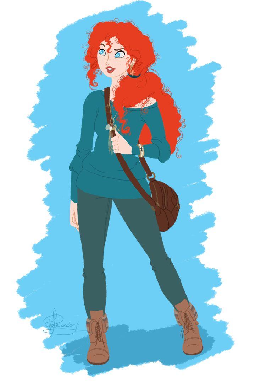 Day 30: Merida in modern clothes. So cute!