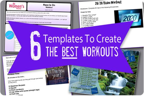 how to build workout template
