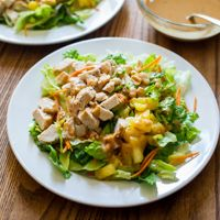 Asian Chopped Chicken Salad - a delicious fridge-clearing recipe